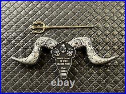 US NAVY Seal Team XVII 17 Chiefs Mess Coin Bull Trident Skull RARE Serial #029