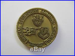 US Navy Commander General SOCCENT Special Operations Black OPS Seals Coin