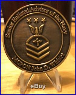 US Navy MCPON #2 John Whittet Challenge Coin CPO