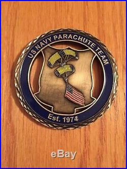 US Navy Parachute Team Leap Frogs Challenge Coin
