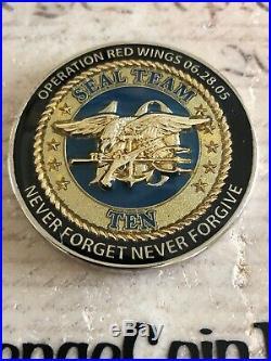 US Navy SEAL Team 10 Ten Operation RED WINGS 6.28.05 RARE DEVGRU Challenge Coin