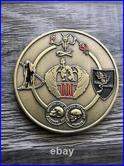 US Navy SEAL Team 7 TACDEVRON NSW ST7 Trident 1730 Challenge Coin Iraq 2015 Rare