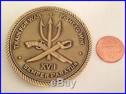 US Navy SEAL Team XVII Seventeen Semper Paratus Challenge Coin