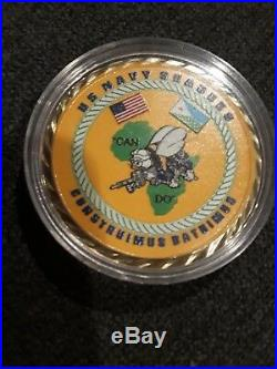 US Navy Seabees ball 2018 Camp Lemonnier Djibouti Africa USN HOA Challenge Coin