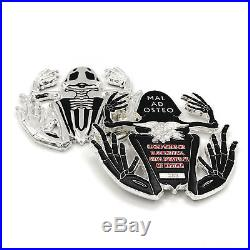 US Navy Seal Polished Silver Bone Frog Challenge Coin / SWCC / Non-CPO / NSW