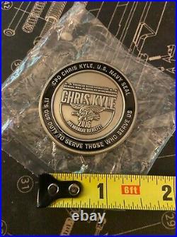 US Navy Seal Team 3 Sniper CPO Chris Kyle 2016 Memorial Benefit Challenge Coin