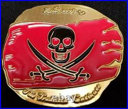 US Navy Seal Team 5 2 Troop Gold Pirate Dabloon Shaped Challenge Coin