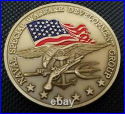 US Navy Seal Team Six DEVGRU Challenge Coin V4 Color on backside Version