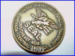 US Navy Special Warfare SEAL UDT Underwater Demolition Team Challenge Coin