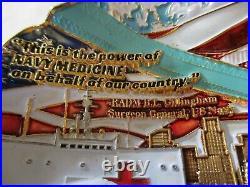 US Navy Task Force 130.1 DESRON 21 USNS Mercy COV! D Pandemic Challenge Coin Mask
