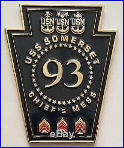 US Navy USN Chief's CPO Mess USS Somerset LPD 25 9 11 United Flight 93 USMC