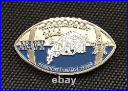 US Secret Service ARMY NAVY POTUS TRUMP SILVER TRIP Challenge Coin