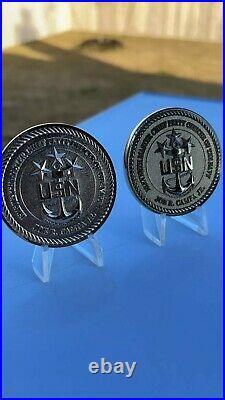 U. S. NAVY MCPON 11 challenge coin