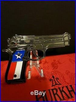 U. S NAVY POLICE GUN-NAS DALLAS FT. WORTH MASTER AT ARMS- limited-Challenge Coin
