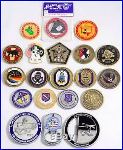 U. S. Navy ARMY USAF USMC Challenge Coin Lot of 20 coins VMU-3 Phantoms Dolphin