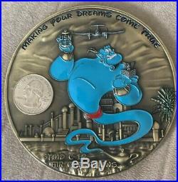 U. S. Navy Disney Aladdin Genie rare Big Bad Wolves Challenge coin 1st variant