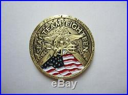 U. S. Navy USN NSW SEAL Team 18 ST18 ST-18SEAL Team XVIII Challenge Coin