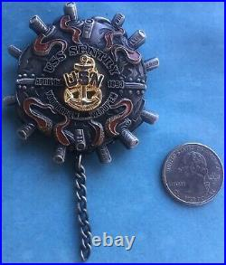 Us Navy Challenge Coin Uss Sentry (mcm-3) Chief Cpo