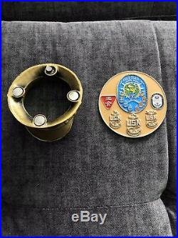 Usn Navy Chief, Uss Makin Island Combo Cover Challenge Coin. Og & Newversion