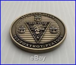 Usn Navy Seal Team 7 VII Seven Tu3 Foxtrot Platoon Nsw Skull Challenge Coin Cpo