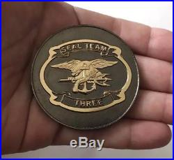 Usn Navy Seals Seal Team 3 Nsw St3 Horsemen Punisher Non Cpo Mess Challenge Coin