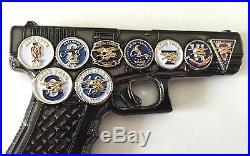 Usn Navy Seals Team Glock 19 Gun Pistol 9mm Challenge Coin Cpo Chief Nsw Police