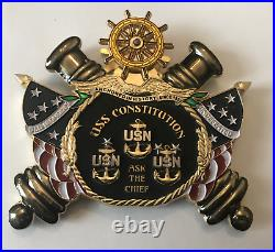 Usn / Uss Constitution Cpo Mess / Navy Chief / Rare / Huge/ Awesome