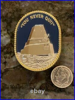 Uss Michael Monsor Ddg 1001 Zumwalt Usn Us Navy Rare Challenge Coin
