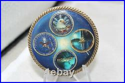 VHTF Navy ONI OFFICE OF NAVAL INTELLIGENCE OIC ISC Kennedy Challenge Coin