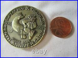 Very RARE Navy SEAL UDT Superfrog Triathlon 1988 Named Challenge Coin / NSW NSWG