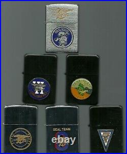 Zippo. Seal Team Set of 7. NAVY Special Ops. See Description